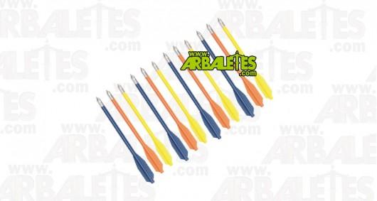 Pack de 12 traits de 16 cm PVC multicolor