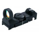 Un optique de visée point rouge à 11 niveaux d'intensité, un des seuls montables à la fois sur rail de 11 mm et rail Picatinny/Weaver de 22 mm