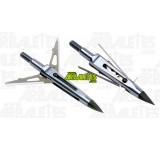 Un blister de trois pointes de chasse 'Killzone' de chez New Archery Products à deux lames, en acier, et de 125 grains