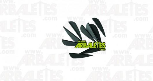 Plumes plastiques paraboliques noires - lot de 10