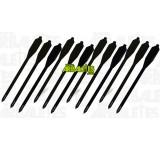 Un lot de douze carreaux noirs pour pistolets arbalètes, à corps en PVC et tête en aluminium