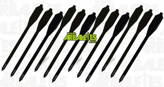 Pack de douze traits PVC noirs pour pistolet arbalète