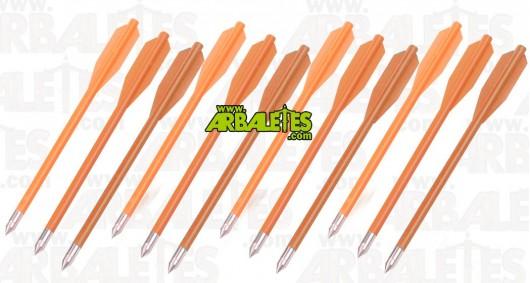 Pack de douze traits PVC oranges pour pistolet arbalète