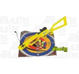 Arbalète junior Big Fun Line Antelope xbow jaune pour enfants avec cibles et 6 fléchettes colorées