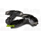 Coque rigide adaptée au rangement et au transport d'une arbalète avec sa lunette montée, avec mousse intérieure haute densité, sangle de maintien et ultra résistante