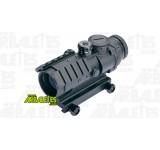 Un optique de visée avec réticule point rouge et vert de la marque ASG double-rail 22mm pour placer encore des accessoires supplémentaires