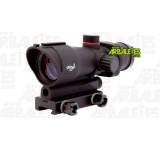 Un optique de visée point rouge haut montable sur toute arme dotée d'un rail Picatinny/Weaver de 22 mm